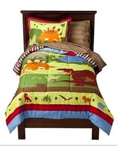 Amazon.com: Bright Colored Dinosaurs Boys Twin Comforter ...