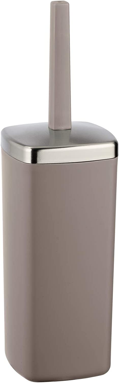 geschlossener WC-B/ürstenhalter 10 x 38,5 x 10 cm WENKO 22463100 WC-Garnitur Candy Grey grau