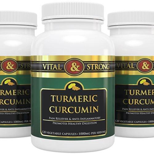 # 1 Pur curcuma curcumine - 1000 mg par portion - All Natural - Qualité Premium - Cliniquement prouvé soulagement de la douleur organique et anti-inflammatoire pour l'arthrite recours et mixte sur la santé - diminue les gonflements - sans additifs artific