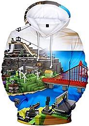 PANOZON Kids Roblox Fashion Hoodies Funny 3D Print Pullover Sweatshirt for Boys and Girls