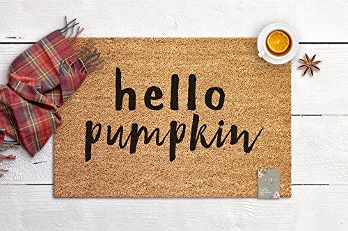 Hello Pumpkin Decor Door Mat Seasonal Fall Decor Welcome Mat Farmhouse Housewarming Gift New Home Gift Coir Mat Outdoor Doormat Cute Doormat