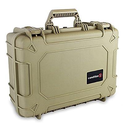 Image of Condition 1 18' Medium #801 Tan Waterproof Hard Case with DIY Customizable Foam Electronics & Gadgets