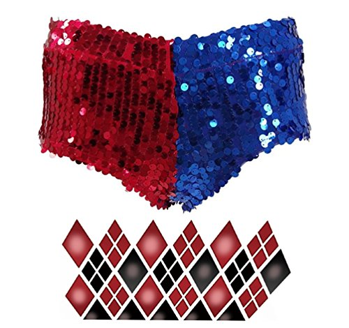 [Fly Costume Womens Fashion Cosplay Costume Halloween Punk Sequins Shorts (Woman-M)] (Fly Costumes)