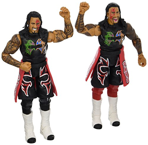 WWE Jimmy USO & Jey USO Action Figure (2 Pack) (Wwe The Usos Action Figures)
