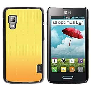 TopCaseStore / la caja del caucho duro de la cubierta de protección de la piel - Sunset Yellow Gold Warm - LG Optimus L5 II Dual E455 E460