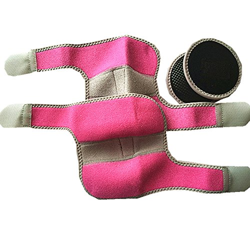 MINILUJIA Adjustable Breathable Outdoor Sports Protection Children Elbow Brace Pad for Football Volleyball Cycling Biking Climbing Tennis Dance Arm Cover Elbow Support Pack of 2 (pink) Adjustable Soft Pads