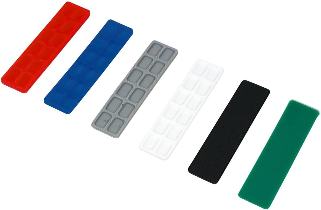 Width 24mm Flat Plastic Window Spacers 6mm Black Glass Glazing Flat Packers 100 PCS