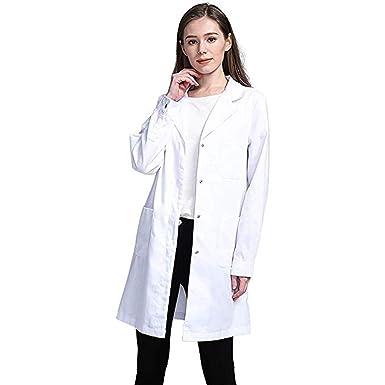 super popular f1a35 2bf3c MXJEEIO- Bata de Laboratorio, médico Abrigo Abrigo de Mujer ...