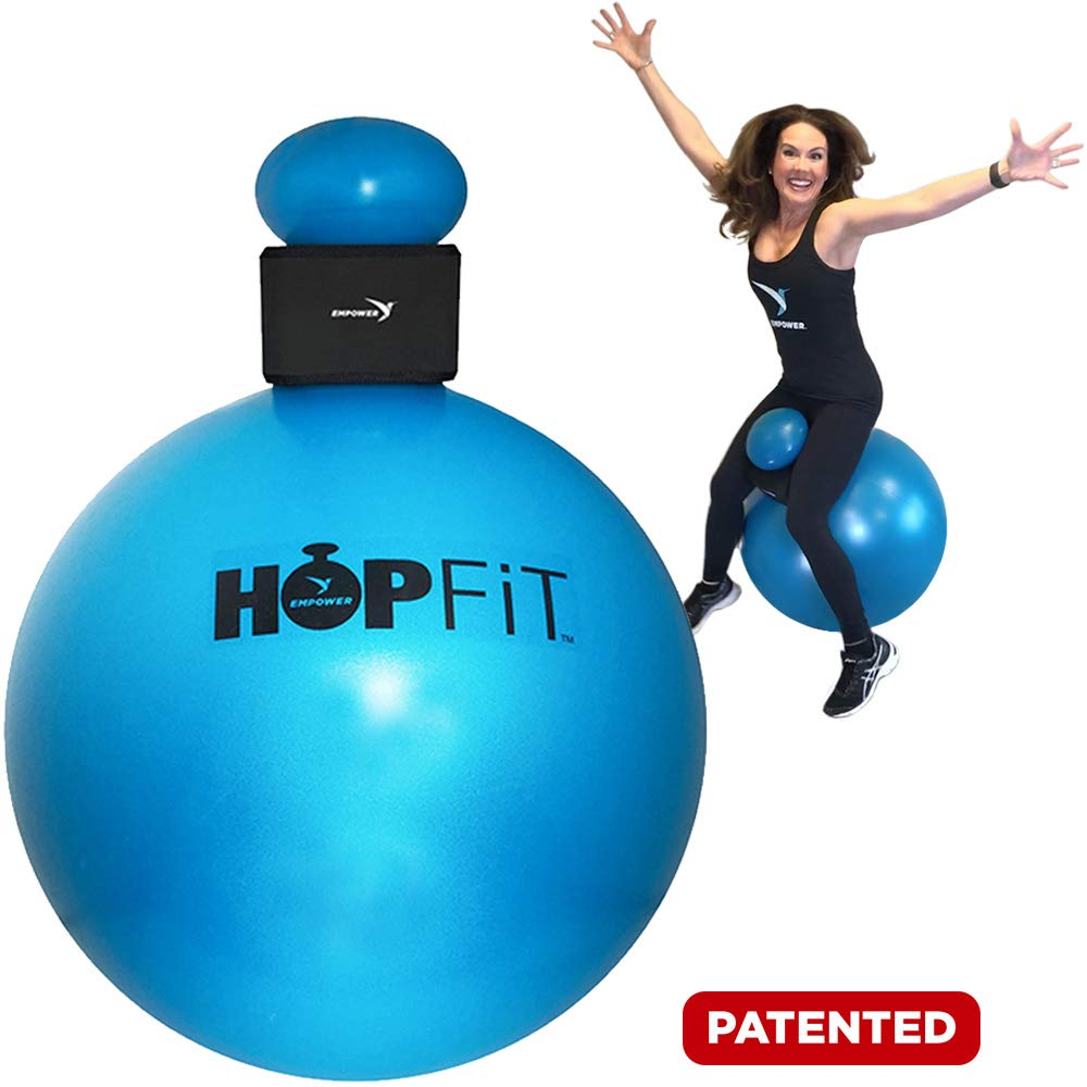 Empower HOPFit Ball Deluxe Pro System Dance Party, Fun, Total Body Workout, Sculpt, Tone with Weighted Gloves (1lb Each), DVD, Streaming Workouts, 9 Piece Set by Empower (Image #1)