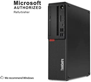 Lenovo ThinkCentre M75E SFF Business Desktop Computer, AMD Athlon II X4 640 3.0GHz, 12G DDR3, 480G SSD, DVD, WiFi, Bluetooth 4.0, VGA, DVI, Win 10 64-Bit Supports English/Spanish/French(AMD)(Renewed)