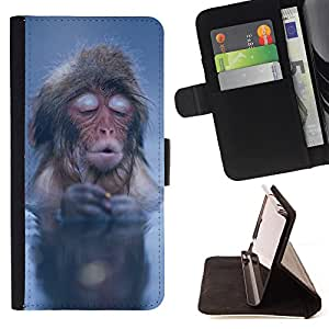 Jordan Colourful Shop -Monkey Cute Animal -- Leather Case Absorci¨®n cubierta de la caja de alto impacto FOR Samsung Galaxy S6 G9200 ---