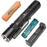 Bundle:Olight M18 Maverick CREE Xm-L2 LED Tactical Flashlight 500 Lumens +Xtar MC1 Battery Charger +1*Olight 18650 2600mAh Battery +1*Skyben 18650 Battery Case