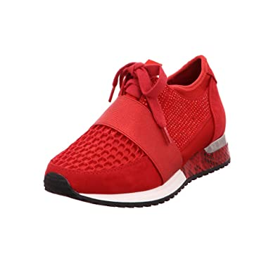 23309b64e6519e La Strada Damen Schnuerschuhe Roter Sneaker mit Glamour 170.5308RED rot  492246