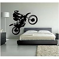 Adhesivo decorativo Customwallsdesign para pared, de vinilo, diseño de moto de motocross