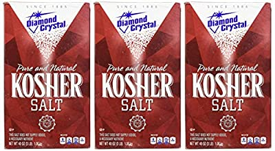 Diamond Crystal Pure and Natural Kosher Salt, 48oz (Pack of 3)