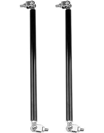 TUPARTS 2Pcs Adjustable 7.87-13 Front Bumper Lip Splitter Diffuser Strut Rod Tie Bars Splitter Support Rods