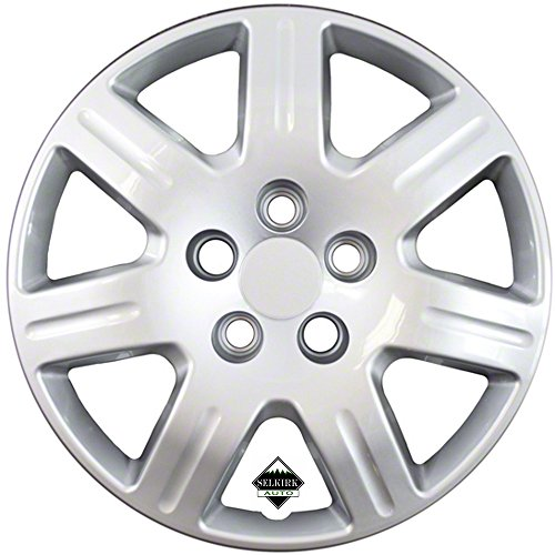 Set of 4 Silver 16 Inch 7 Spoke Replacement Honda Civic Hubcaps w/ Bolt On Retention System - Aftermarket: IWC452/16S by IWC