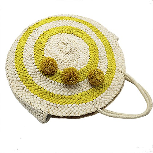 Female Popular Meaeo Bag Handmade Bag Vintage Bags Shoulder Women Large Weave Straw Lady Beach Handbag xtqIwTq