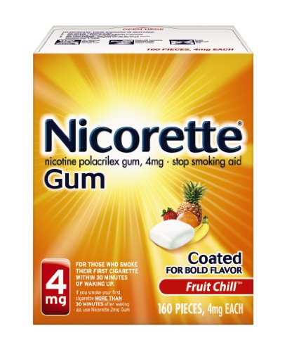 Nicorette 4 mg Gum, Fruit Chill, 160 Count, Health Care Stuffs