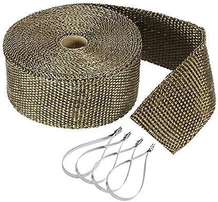 Orlegol Hitzeschutzband Auspuffband 10m Auspuff Band Auto Motorrad Hitzeschutzband Mit Kabelbinder Für Fächerkrümmer Thermoband Krümmerband Elektronik