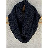 Black Warm Criss Cross Handmade Cowl Scarf