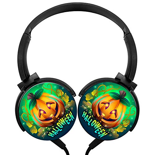 Creepy Halloween Headphones 3D Printed Over-Ear Lightweight Headphone for Kids Men Women