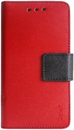 Reiko Premium - Funda Tipo Cartera con Soporte, Tapa y 3 tarjeteros para Sharp Aquos Crystal 306SH, Color Rojo: Amazon.es: Electrónica