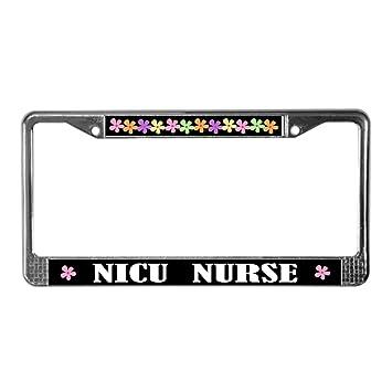 cafepress nicu nurse license frame gift chrome license plate frame license tag holder
