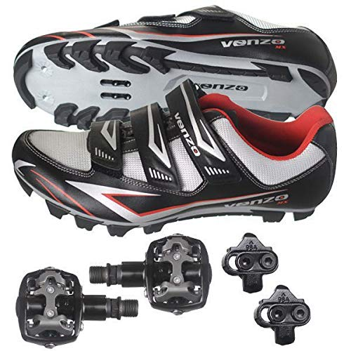 Bicycle Cycling Shimano SPD Shoes + Pedals & Cleats 44(black) ()