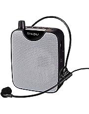 Spraakversterker Voice Recorder Mini-PA-systeem met bekabelde headset-microfoon, luide luidsprekers ondersteunen opnamefunctie en U-disketten/TF Perfect voor op reis, onderwijs (M500)