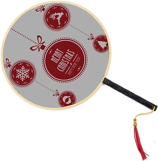 Hermosa bola de Navidad Ventilador antiguo chino Ventilador de paleta clásico Palacio Ventilador de baile Ventiladores de mano para niñas Ventilador chino Ventilador chino para niños Ventilador a mano: Amazon.es: Hogar