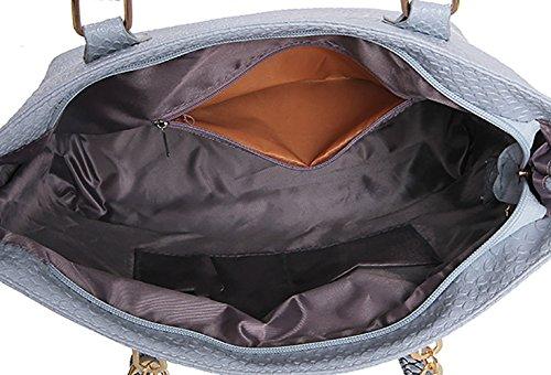 3pcs Women's Leather Handle Bags Black Cross Top Handbags Bags Set Shoulder Bags Faux Body HxUrFnPqH