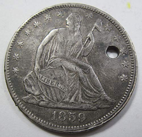 1859 Seated Liberty Half Dollar Extremely Fine