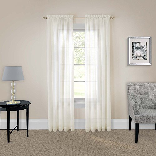 Ivory Voile - PAIRS TO GO Sheer Curtains for Bedroom - Victoria Voile 118