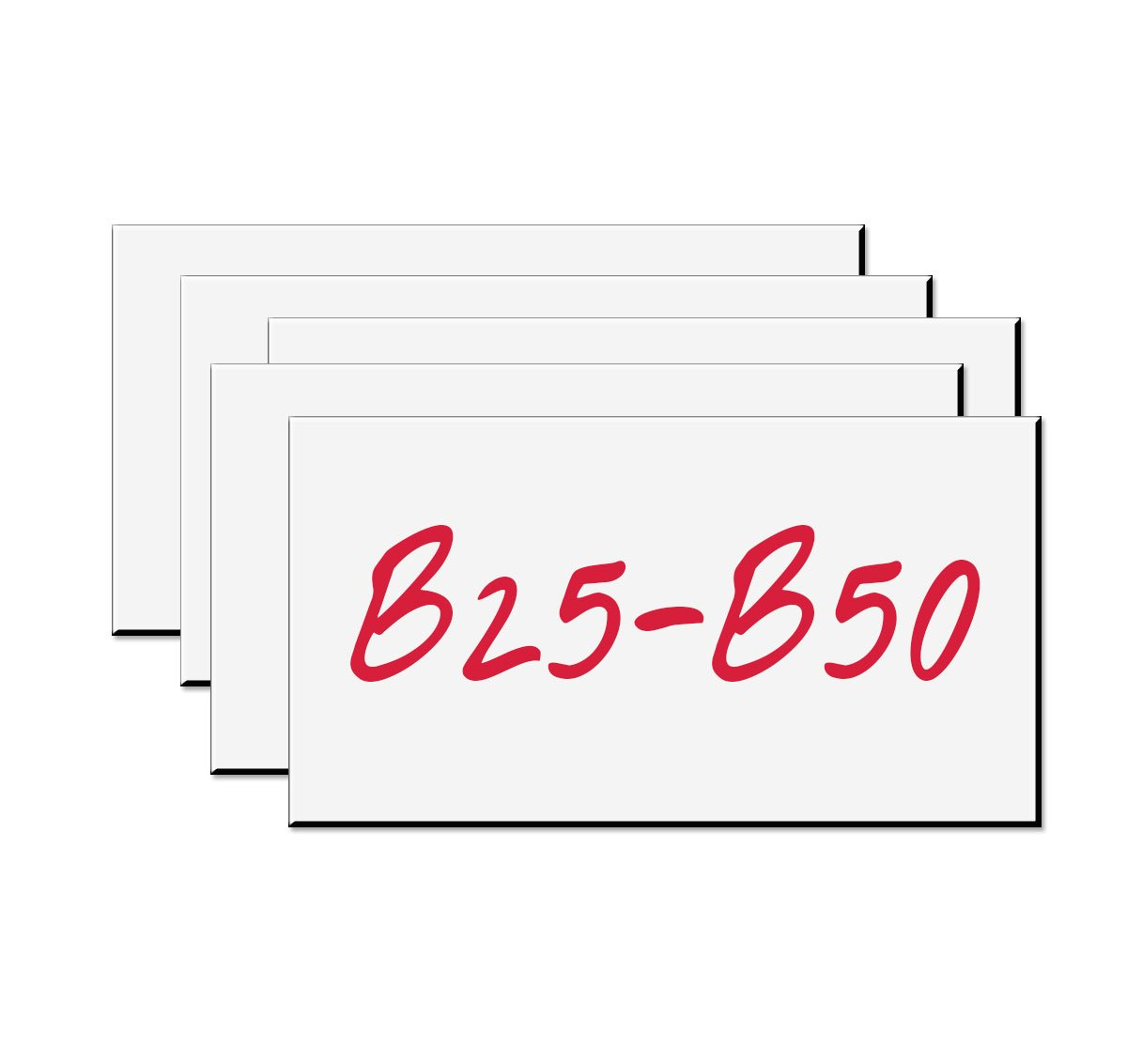 Write-On Magnetic Rack/Shelf Labels White 4 x 2/10/Pk - Made in the USA!