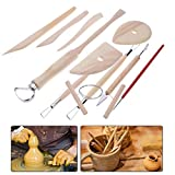 AFCN 13pcs Pro Clay Sculpting Tools Pottery Ceramics DIY Carving Modelling Arts Crafts Tool Set Wooden Handle...