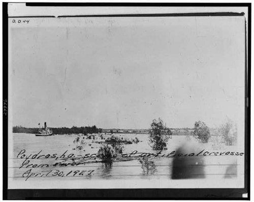 Photo: Poydras,St. Bernard Parish,Louisiana,LA,1927 Flood - Poydras St