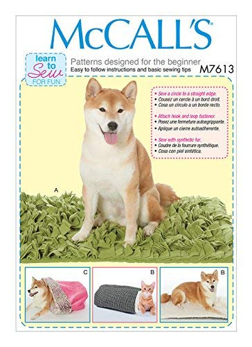 MCCALLS M7613 DOG CAT Pet Beds with Contrast and Lining Variations SEWING PATTERN ()