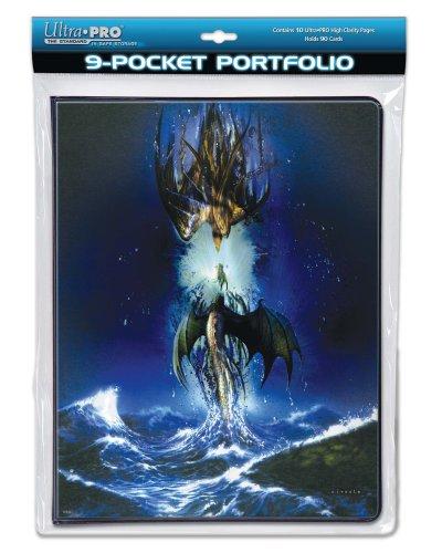 Cahier range-cartes 180 cartes Ciruelo 'Dragons entre ciel et mer' pour pokemon, yu gi oh, redakai, magic, et autres cartes à jouer et autres cartes à jouer Ultra Pro 82097