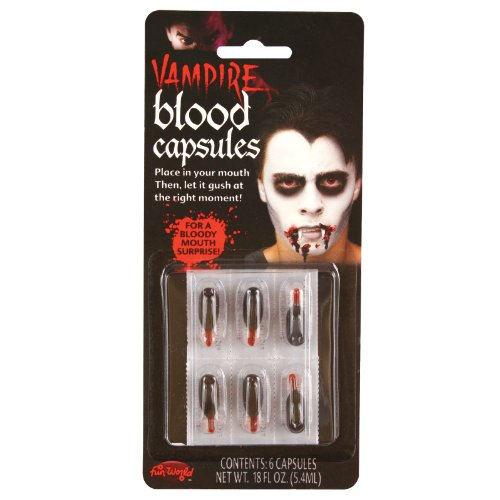 Halloween Vampire Blood Capsules