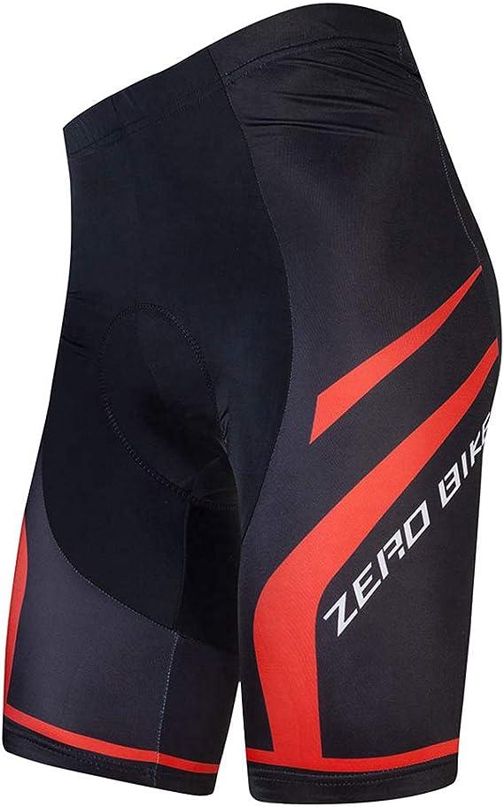 XGC Short de Cyclisme pour Homme avec Rembourrage en Gel 4D /élastique et Respirant L Noir