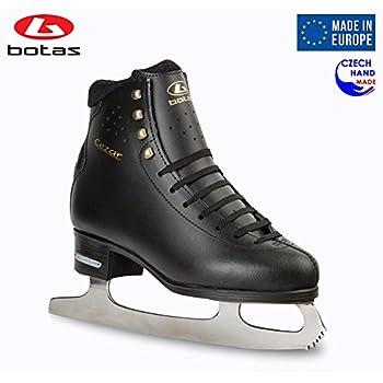 Image of Botas - Model: CEZAR/Made in Europe (Czech Republic) / Figure Ice Skates for Men, Boys/Leather Stretchy Cuff/Spirit Blades Figure Skates