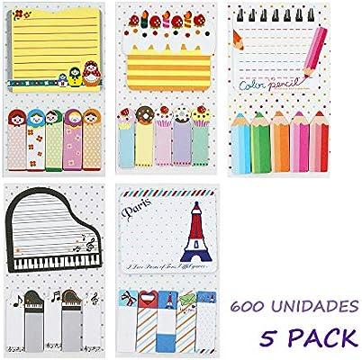Starplast Pack Notas Adhesivas, Mini Notas Autoadhesivas, Forma ...