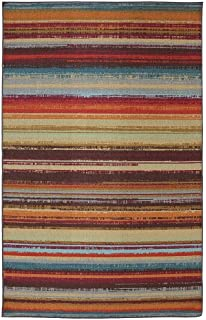 Mohawk Home Avenue Stripes Indoor/ Outdoor Printed Area Rug, 5u0027x8u0027,