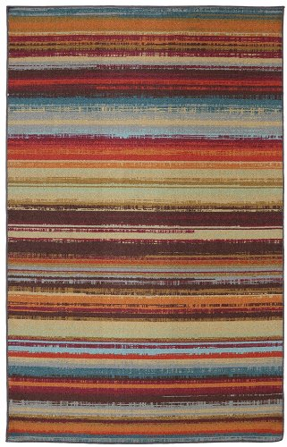Mohawk Home Avenue Stripes Indoor/ Outdoor Printed Area Rug, 5'x8', Multicolor (5x8 Outdoor Rug)