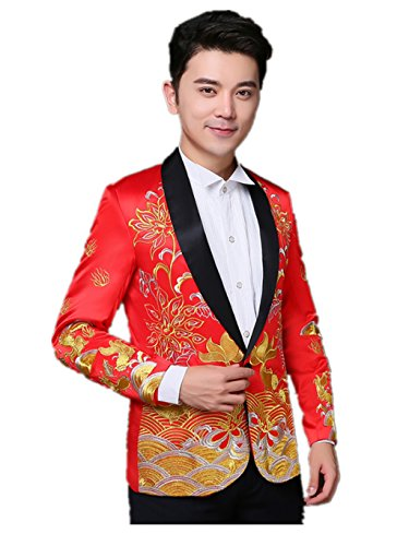 Brideroom Wedding Dress Mandarin Jacket ImperialRobe Tang Suits West Suits by YY-Bridegroom Wedding Suit
