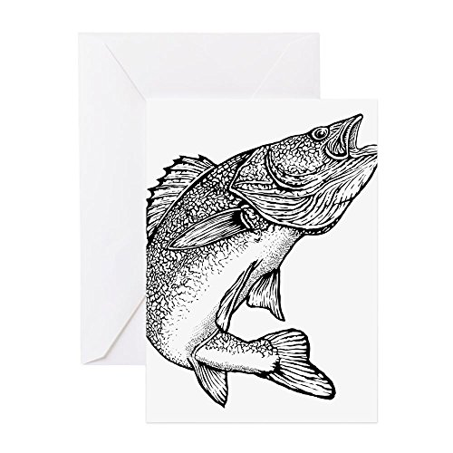 (CafePress - Walleye - Greeting Card, Note Card, Birthday Card, Blank Inside)