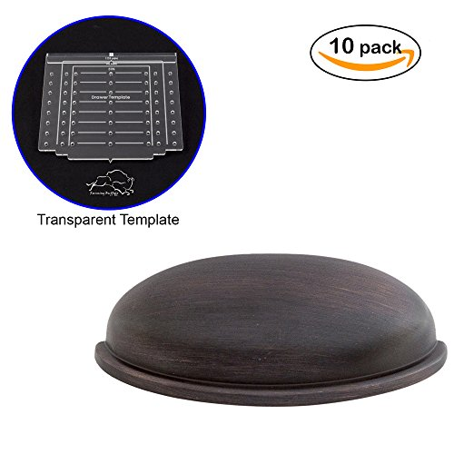 - Oil Rubbed Bronze Bin Cup Pull | Cabinet Drawer Handle Hardware | 10 Pack with Free Installation Template & 2 Sets of Screws 1