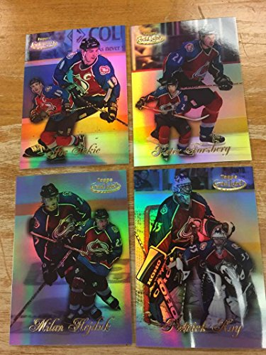 Topps Gold Label 1998 (1998-99 Topps Gold Label Class 1 Colorado Avalanche Team Set 4 Cards Hejduk RC Patrick Roy)