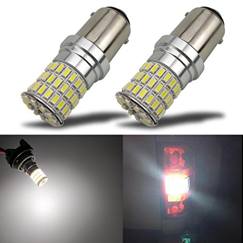 iBrightstar Newest 9-30V Extremely Bright 1142 1076 1176 BA15D LED Bulbs replacement for Back Up Reverse Lights,Brake Lights,Tail Lights,Rv lights,Xenon White